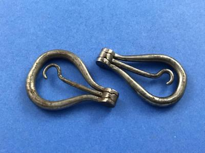 Two Antique Folding Bow Button Hooks