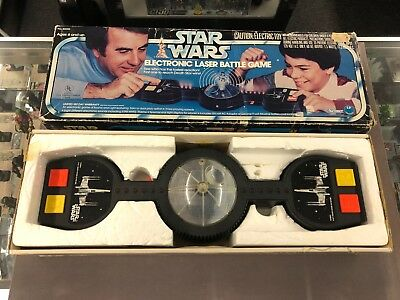 Star Wars Vintage Electronic Laser Battle Game w/ Box WORKS (no AC adapter)