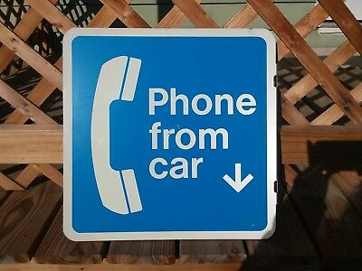 Phone From Car Sign 2 Sided 18 X 18 Metal