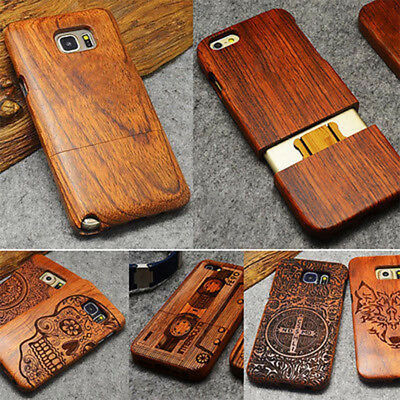 Natural Luxury Wood Phone Bamboo&PC Case Cover For Samsung Galaxy S10e S9 Note10
