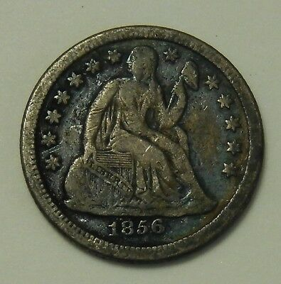 1856 O Seated Liberty Dime ~ VF Details ~ 10¢ C Cent Silver Coin