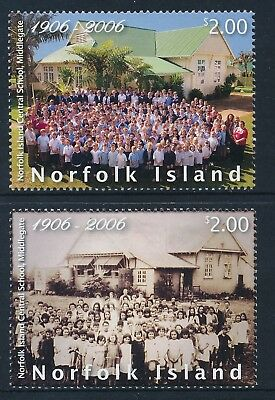2006 Norfolk Island Middlegate School Centenary Set Of 2 Fine Mint Mnh