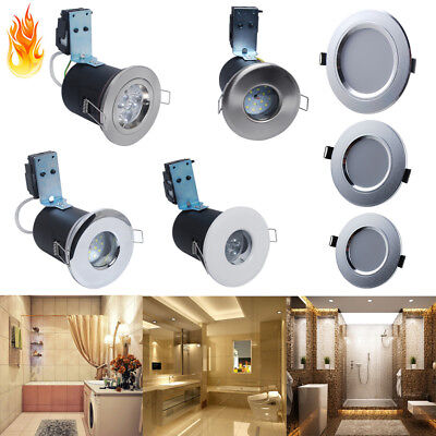 6/1x LED Recessed Ceiling Light Fire Rated Downlight GU10 IP65 12W 9W 7W 5W 3W