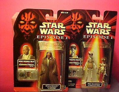 2 STAR WARS action figures ODY MANDRELL w OTOGA  + MACE WINDU LIGHTSABER