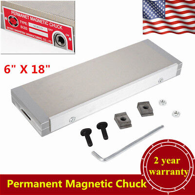 """150*450mm(6"""" X 18"""") Permanent Magnetic Chuck For Grinding Machine 100N-120N USA"""