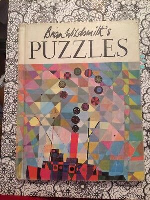 vintage Puzzles  By Brian Wildsmith 1970 hardcover Book