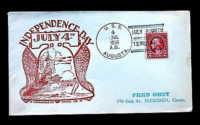 US Stamp Sc# 634 on USS Augusta Naval Cover 4th of July 1936 in Tsingtao China