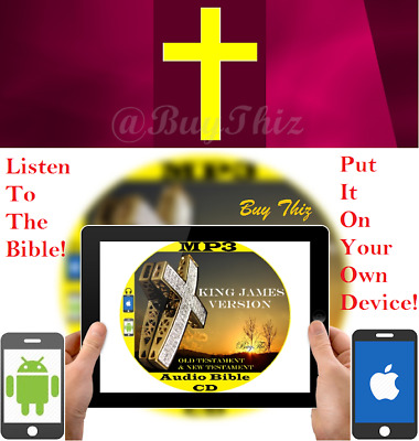 †Wonder Full Bible† The Talking King James Bible For Audio Player As Seen on CD