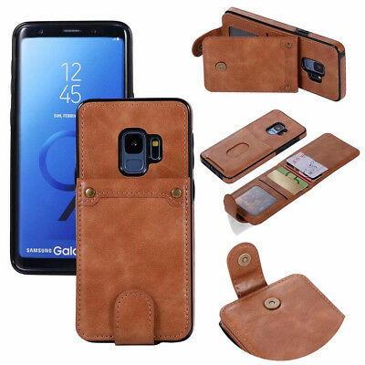 For Samsung Galaxy S8/9 Plus Note9/8 Leather Wallet Case Flip Card Slots Cover