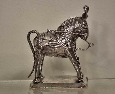 Antique Indian Hindu Silver Horse Kendeh Rao Avatar of Shiva 19th century India