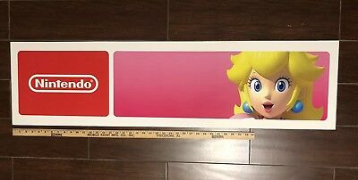 Toys R Us Exclusive Princess Peach Double Sided Nintendo Store Sign Display