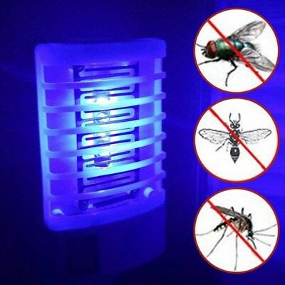 LED Electronic Mosquito Repellent Fly Bug Insect Trap Zapper Killer Night Lamp