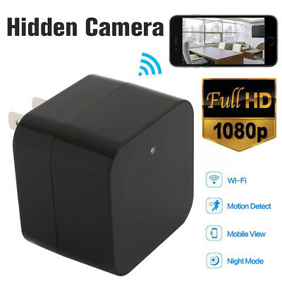 HD 1080P Hidden SPY Camera WiFi Wall Charger Remote View Recorder Motion Cam