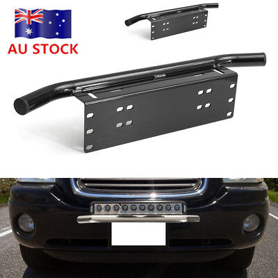 Liscence Number Plate Holder Mount Bracket Car Bumper LED Driving Light Bar BW