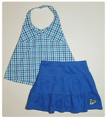 Gymboree Pool Party Girls 3T Halter Top & Knit Skort Skirt Outfit NWT VINTAGE