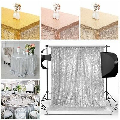 3x1.6m Sequin Table Cloth Wedding Photography Background Studio Photo Backdrop
