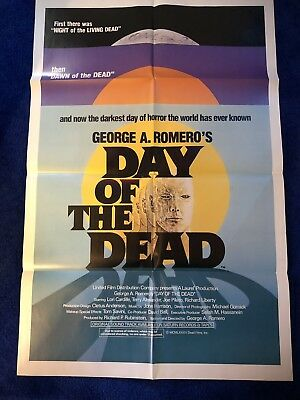 1985 Original Movie Poster~DAY OF THE DEAD~Near Mint Condition~Scary!