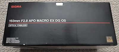 Sigma 150mm f2.8 EX DG OS APO HSM Macro Lens for Sony A-Mount