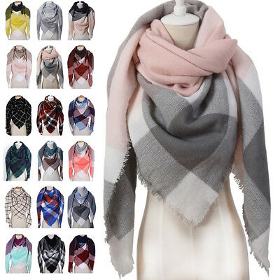 Fashion Grid Pattern Women's Girl Winter Outdoor Soft Warm Long Scarf Gift Ornat
