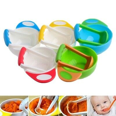 baby manual food fruit and vegetable grinding bowls Baby food supplement t D3L4)