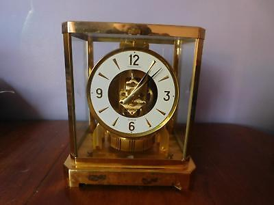 Beautiful ATMOS Mantel clock by Jaeger Le Coultre  Serial 420983 from 1970 's