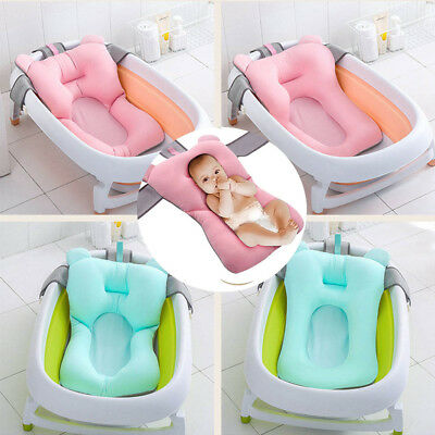 Baby Bath Tub Pillow Pad Lounger Air Cushion Newborn Shower Net Infant Bathtub