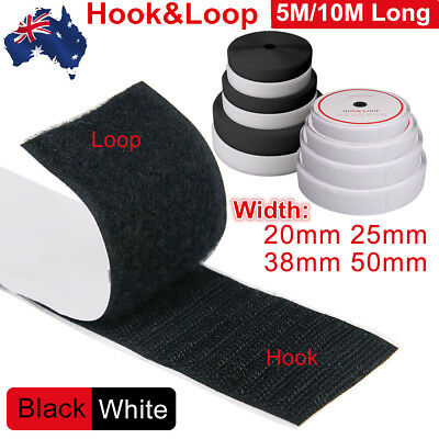 NEW 20mm 25mm 38mm 50mm Self-Adhesive Sew On Back Hook And Loop Fastening Tape