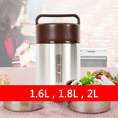 Vacuum Insulated Lunch Box Stainless Steel 3 Tier Food Container 3 Size USA