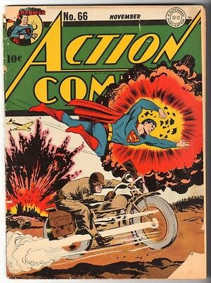 DC Action Comics SUPERMAN VG- 66 1942 golden age 3.5