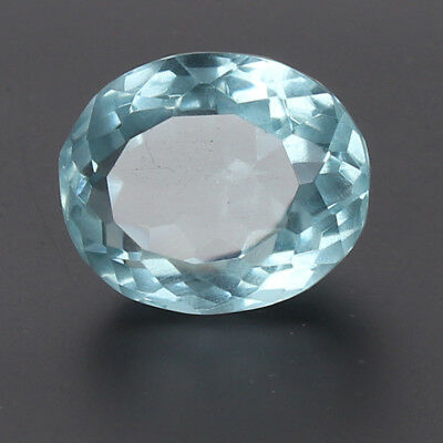 Certified 20.25 Ct. Natural Aquamarine Greenish Blue Color Oval Cut Loose Gem