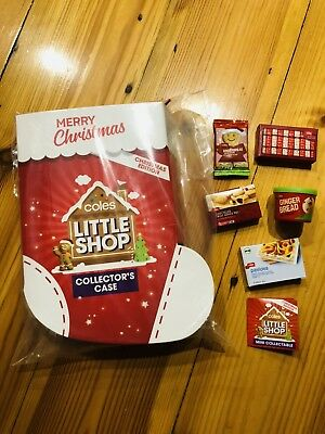 Coles Little Shop Collector's Case With Full Set Of Minis Christmas Edition