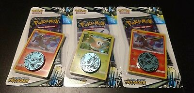 24 Booster Pack Lot Lost Thunder Pokemon TCG Sun & Moon 10 Card Packs Promo Coin