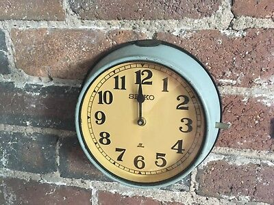 Vintage Industrial Reclaimed Salvaged Seiko Ship Wall Clock - Marine Salvage