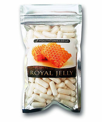 Royal Jelly ( Freeze Dried 4:1 Equivalent to 1,600mg ) Vegetarian Capsules