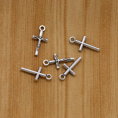 20pcs Ancient Silver Cross Exquisite Alloy Pendant Accessories Jewelry parts