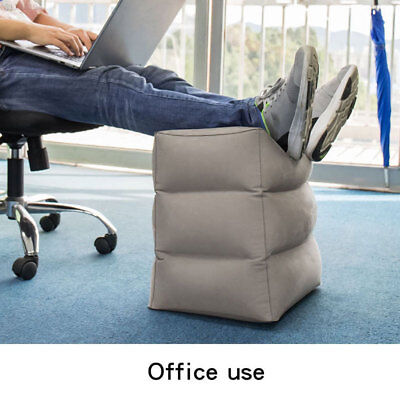 8506 Inflatable Foot Rest Travel Air Pillow Cushion Office Leg Up Footrest Relax