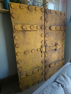 Medieval Iron Style Standard Wooden House Doors Salvage Antique Period Old Style