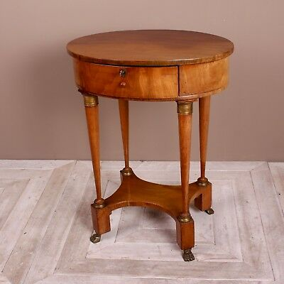 A 19th Century French Cherrywood and Gilt Metal Work or Lamp Table
