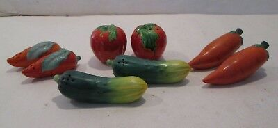 Lot of 4 Pairs Garden VEGETABLES VINTAGE Japan. Salt & Pepper Shakers