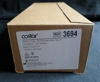 (25) Corning 96-Well Black PS Half Area Assay Plate, No Lid, Non-Treated, 3694