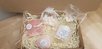 Strawberry Soap, Candle & Butter Bath bombs Gift Set.Packed with skin goodness💕