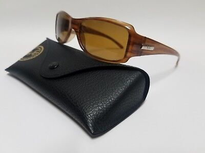 Ray Ban RB 4078  689 Wood Grain Frame w/Bronze Lens Made In Italy + Case & Cloth