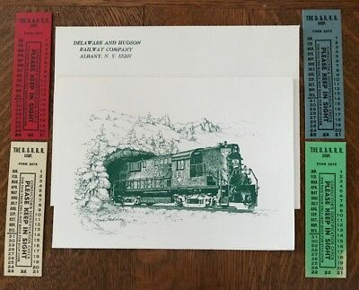 D&h Rr Christmas Card, Seating Tickets; Delaware & Hudson Rr