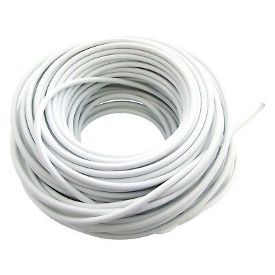 White Net Curtain Wire Window Cord Cable With Free Hooks & Eyes Home Office