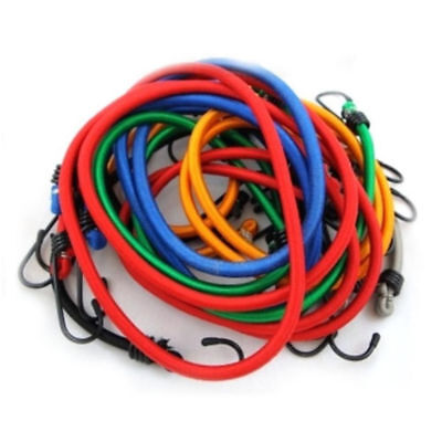 12 Piece 8Mm Gs/Tuv Assorted Bungee Straps Set