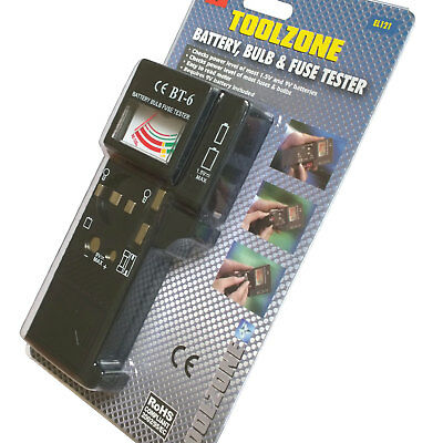 Battery Bulb & Fuse Tester Load Test 15V Aaa Aa 9V Pp3 Continuity Test Bulbs