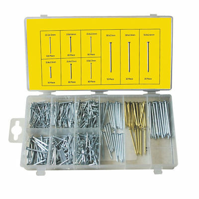 Nail Assortment 550Pc Small-Large Pack/Set Masonry/Panel/Finish/Diy Short-Long