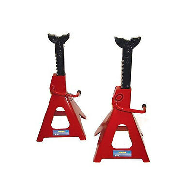 Pair Of 6 Ton Steel Jack / Axle Stands Steel Frame Lifting Hydraulic Stand Wood