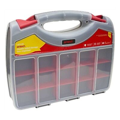36 Compartment 340Mm Plastic Storage Box Organiser Carry Case Screws Nuts Bolts