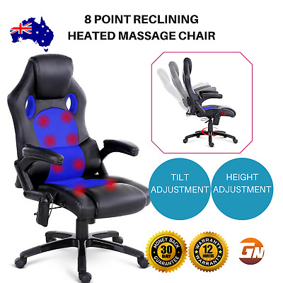 Artiss Massage Office Chair Gaming Chair 8 Point Heated Computer Chairs Recliner